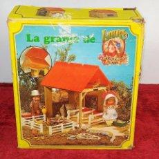 Juegos antiguos: LA GRANJA DE LAURA. CASA DE JUGUETE. CON ACCESORIOS. CAJA ORIGINAL. TOYSE. ESPAÑA. SIGLO XX. Lote 210288047