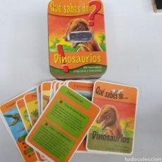 Juegos antiguos: CAJA FICHAS - QUE SABES DE LOS DINOSAURIOS - 100 PREGUNTAS Y RESPUESTAS - CAR195. Lote 210346767