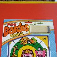 Juegos antiguos: MINI DIANA DARDOS MAGNÉTICOS ANIMALES.RIMA 80S.NUEVA.. Lote 210358026