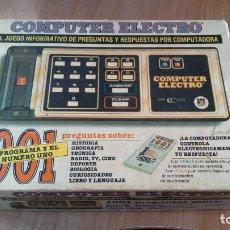 Juegos antiguos: COMPUTER ELECTRO 2001 - DISET. Lote 210564926