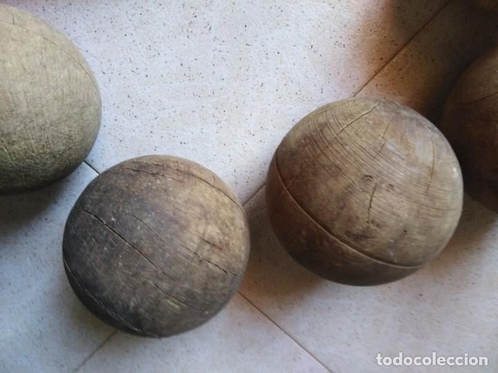 Juegos antiguos: Lote Bolas de madera y bolo antiguo - Foto 4 - 210629975