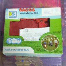 Juegos antiguos: JUEGO DE SACOS Y PARACAIDAS PARA ANIMACIONES INFANTILES. Lote 211662905