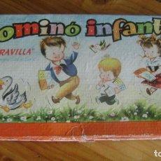 Juegos antiguos: ANTIGUO DOMINO CARTON COMPLETO ILUSTRADO POR SABATES VER FOTOS ESTBARAJAS. Lote 215157140