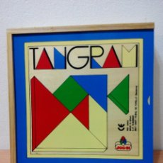 Juegos antiguos: CLASICO ROMPECABEZAS VINTAGE-TANGRAM DE MADERA.. Lote 216365150