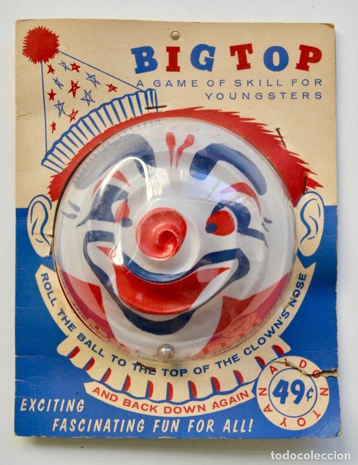BIG TOP. ANTIGUO Y FANTÁSTICO JUEGO DE HABILIDAD. BILLARÍN PAYASO. ENVASE ORIGINAL. NUEVO. NEW YORK (Juguetes - Juegos - Otros)