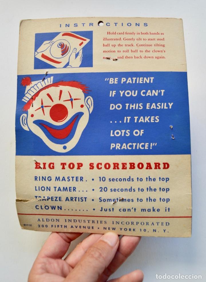Juegos antiguos: Big Top. Antiguo y Fantástico Juego de Habilidad. Billarín Payaso. Envase Original. Nuevo. New York - Foto 4 - 216751930