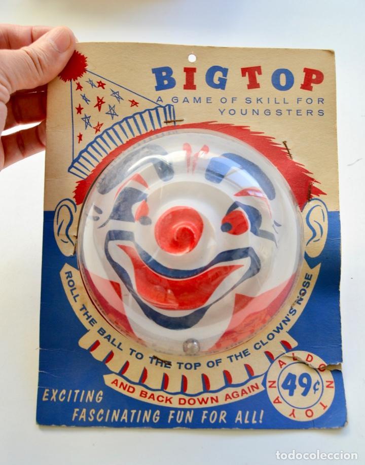 Juegos antiguos: Big Top. Antiguo y Fantástico Juego de Habilidad. Billarín Payaso. Envase Original. Nuevo. New York - Foto 5 - 216751930