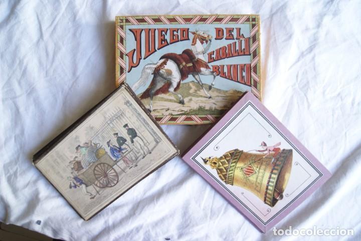 Juegos antiguos: JUEGO DEL CABALLO BLANCO ANTIGUO CON CAJA 2 TIPOS TARJETAS VER FOTOS - Foto 2 - 217119586