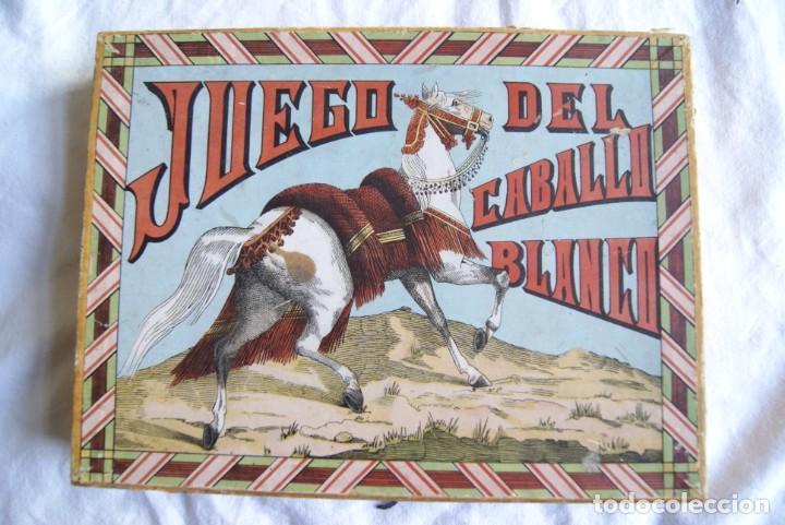 Juegos antiguos: JUEGO DEL CABALLO BLANCO ANTIGUO CON CAJA 2 TIPOS TARJETAS VER FOTOS - Foto 3 - 217119586