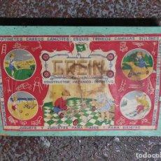Juegos antiguos: CREIN JUEGO DE CONSTRUCCIÓN MUY ANTIGUO EN CAJA DE MADERA. Lote 222703187