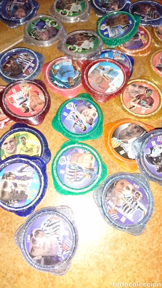 Juegos antiguos: Excelente lote de 39 tazos de fútbol, kraks de panini, años 90-00 - Foto 4 - 223551232