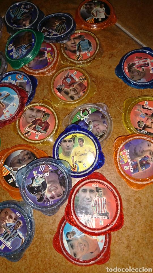 Juegos antiguos: Excelente lote de 39 tazos de fútbol, kraks de panini, años 90-00 - Foto 5 - 223551232
