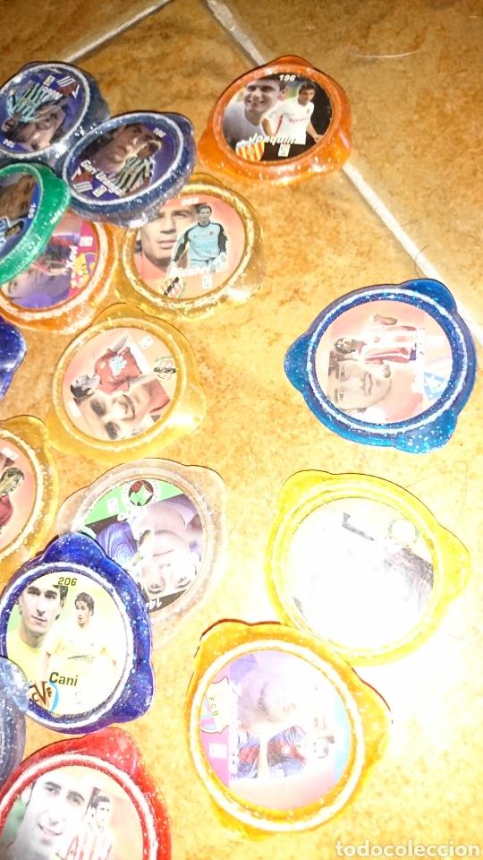 Juegos antiguos: Excelente lote de 39 tazos de fútbol, kraks de panini, años 90-00 - Foto 6 - 223551232