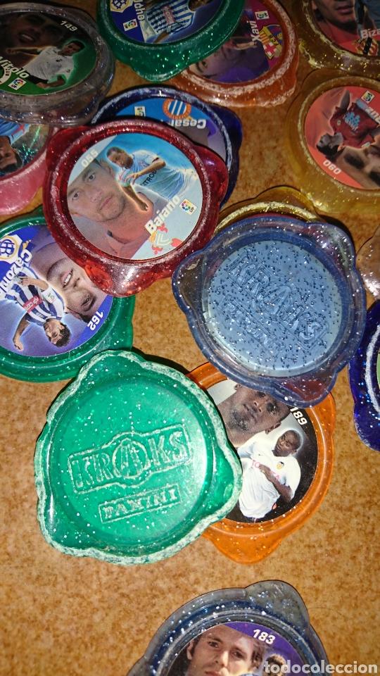 Juegos antiguos: Excelente lote de 39 tazos de fútbol, kraks de panini, años 90-00 - Foto 7 - 223551232