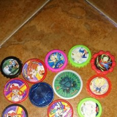 Juegos antiguos: LOTE 16 TAZOS JUEGO, AÑOS 2000,DIFERENTES, VER FOTOS. Lote 223558803