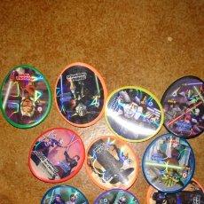 Juegos antiguos: LOTE DE 13,JUEGO DE TAZOS STAR WARS, VER FOTOS. Lote 223560225