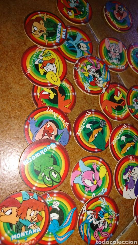 Juegos antiguos: Excelente lote 28,juego de tazos, año 1994,mega tazo tinytoon - Foto 2 - 223566836