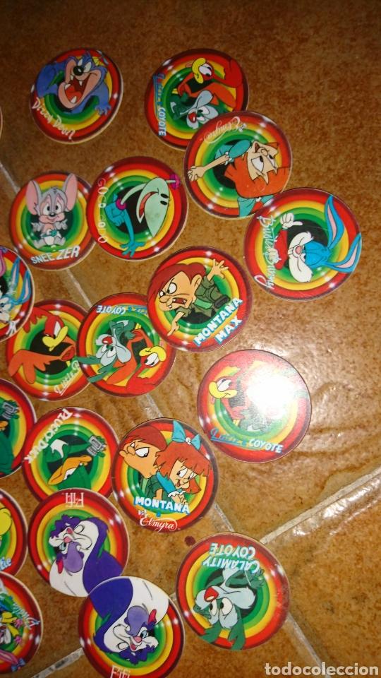 Juegos antiguos: Excelente lote 28,juego de tazos, año 1994,mega tazo tinytoon - Foto 3 - 223566836