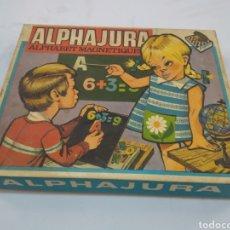 Juegos antiguos: JUEGO ALPHAJURA - ALPHABET MAGNETIQUE - 1965. Lote 224249413