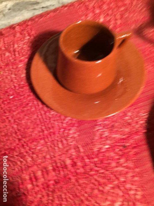 Juegos antiguos: Antiguo juego de café de juguete deceramica marrón de los años 60 - Foto 3 - 224366513