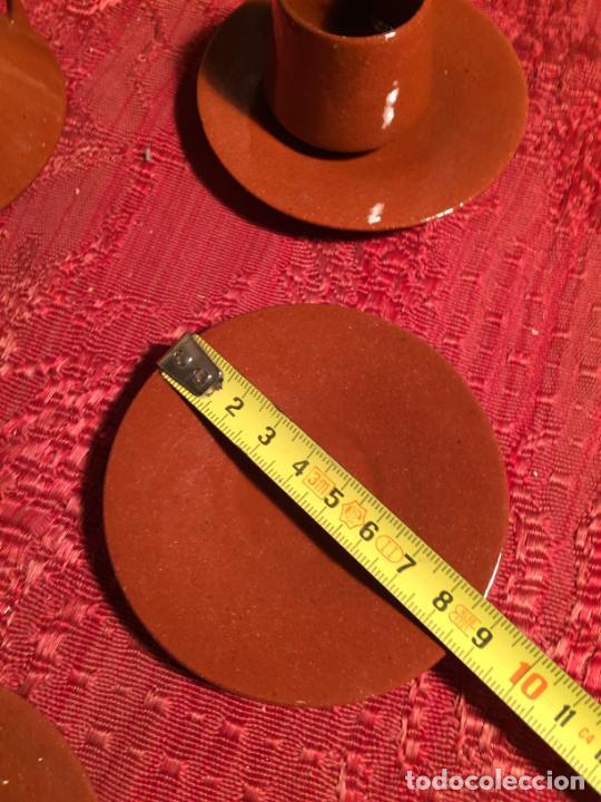 Juegos antiguos: Antiguo juego de café de juguete deceramica marrón de los años 60 - Foto 21 - 224366513