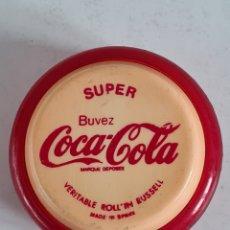 Juegos antiguos: JUGUETE LEGÍTIMO YO-YO SUPER RUSSELL PUBLICIDAD BUVEZ COCA-COLA - MADE IN SPAIN - YOYO FRANCE COKE. Lote 224789992