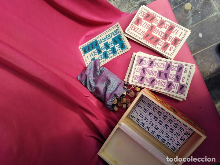 Juegos antiguos: Precioso juego de loteria completo; (cartones, boliches de madera de boj, caja original, etc...) por - Foto 2 - 228337340