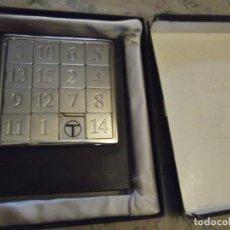 Juegos antiguos: JUEGO ROMPECABEZAS TELEFÓNICA , METÁLICO CROMADO 15,5 X 12, 5 CM. Lote 230878060