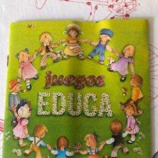 Juegos antiguos: CATÁLOGO JUEGOS EDUCA, JUEGOS ANTIGUOS, JUGUETES ANTIGUOS. Lote 232608075