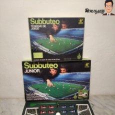 Juegos antiguos: LOTE 2 CAJAS SUBBUTEO JUNIOR DE BORRÁS - 2 EQUIPOS COMPLETOS + CAMPO DE FÚTBOL (REF: S-160 Y C-109). Lote 246745010