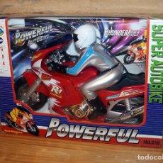 Jogos antigos: SUPER AUTOBIKE POWERFUL - MOTO CON PILOTO A PILAS - NUEVO Y EN SU CAJA ORIGINAL. Lote 234583535