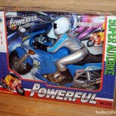 Juegos antiguos: SUPER AUTOBIKE POWERFUL - MOTO CON PILOTO A PILAS - NUEVO Y EN SU CAJA ORIGINAL. Lote 234583545