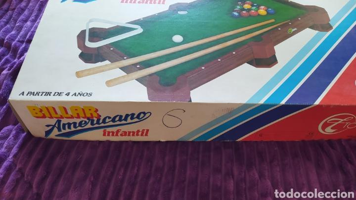 Juegos antiguos: MINI BILLAR AMERICANO INFANTIL TOIMSA - EN CAJA - Foto 2 - 235503555