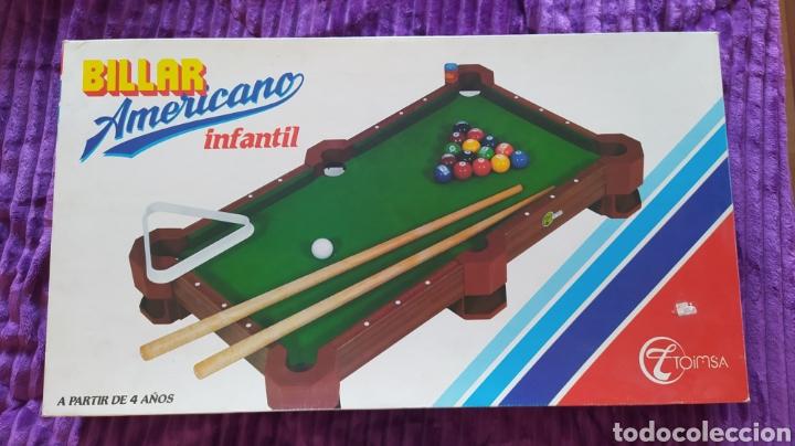 MINI BILLAR AMERICANO INFANTIL TOIMSA - EN CAJA (Juguetes - Juegos - Otros)