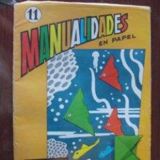 Juegos antiguos: MANUALIDADES SALVATELLA 11 CUADRADO DE PAPEL / PLEGADOS. Lote 236274110
