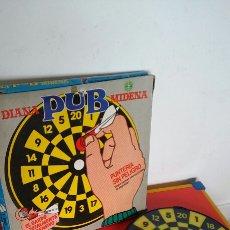 Juegos antiguos: DIANA PUB CON DARDOS VELCRO.MIDENA 70S.NUEVA EN CAJA.. Lote 236626255