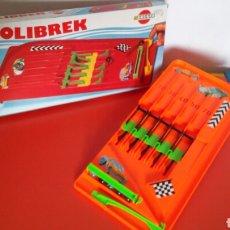 Juegos antiguos: BILLARÍN BOLIBREK CANICAS (35 CM).BREKAR 80S.NUEVO EN CAJA... Lote 236627510