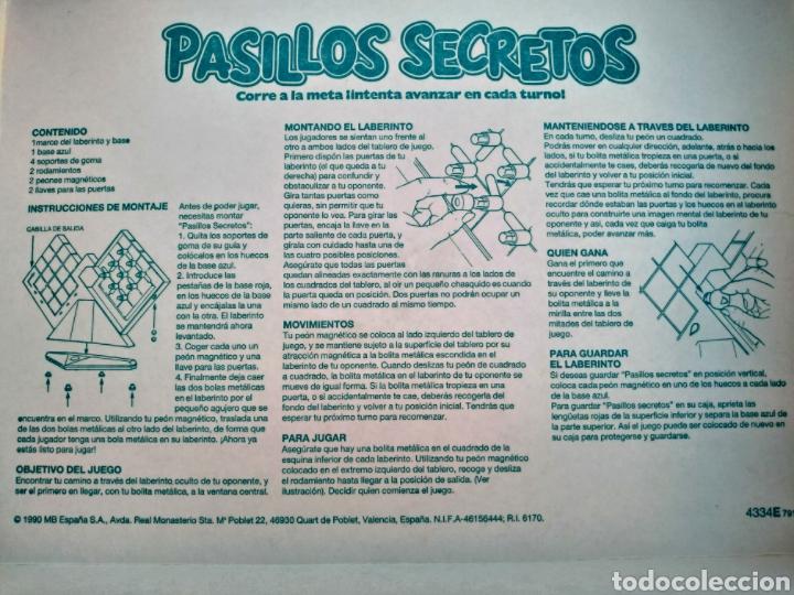 Juegos antiguos: Juego MB Pasillos Secretos - Foto 4 - 241113675