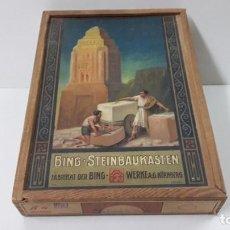 Juegos antiguos: MUY BONITO Y ANTIGUO JUEGO DE CONSTRUCCION EN PIEDRA . BING - STEINBAUKASTEN . ORIGINAL AÑOS 50. Lote 241400995