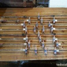 Juegos antiguos: LOTE COMPLETO DE 8 BARRAS Y 22 JUGADORES. FUTBOLIN CORDOBA. LEER DESCRIPCION.. Lote 243177525