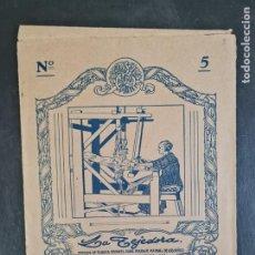 Juegos antiguos: LA TEJEDORA-MODELOS DE TEJIDOS EN PAPEL PARA TRABAJO MANUAL NIÑOS. Nº5 SEIX & BARRAL HERMS.. Lote 243828830