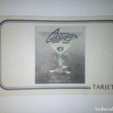 Juegos antiguos: TARJETA ZARAGOZEANDO (DISCOTECA LASER). Lote 244742445