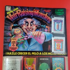 Jogos antigos: HAIR RAISING MONSTERS CRECE PELO.CHICOS 1986.BLISTER SIN ABRIR.. Lote 244801385