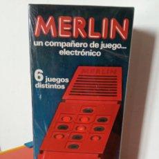 Juegos antiguos: JUEGO ELECTRÓNICO MERLÍN 6 JUEGOS.BORRÁS 1980.NUEVO EN CAJA SIN ABRIR.. Lote 245780460