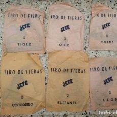 Juegos antiguos: TIRO DE FIERAS JEFE ANIMALES TIGRE, OSO, COBRA, COCODRILO, ELEFANTE, LEON SIN ABRIR. Lote 246905000