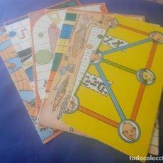 Juegos antiguos: LOTE DE 6 CARTONES ORIGINALES DE JUEGOS,DE LOS JUEGOS REUNIDOS GEYPER DE 1968. Lote 247260300