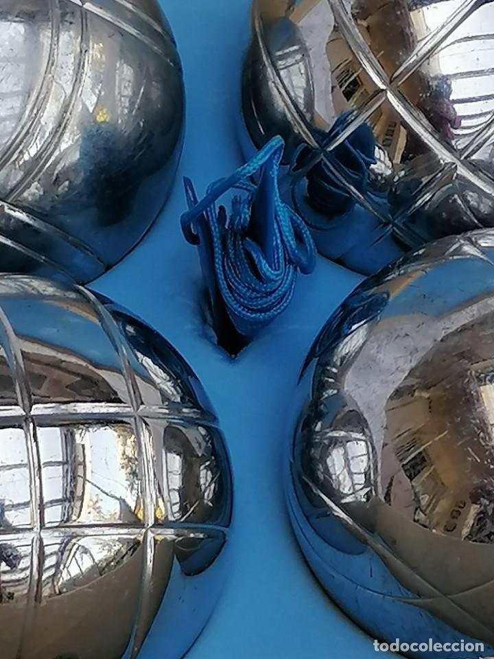 Juegos antiguos: Juego de petanca metálico de seis bolas - Foto 3 - 252613385