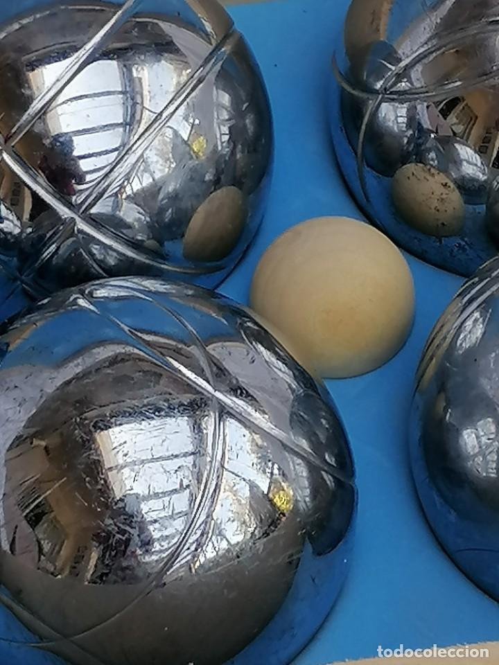 Juegos antiguos: Juego de petanca metálico de seis bolas - Foto 4 - 252613385