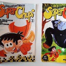 Juegos antiguos: LOTE PASATIEMPOS LIBRO CUADERNO JUEGO SUPER CHUPI MUNDIAL EDICIONES 1985 Nº 3-4. Lote 257613975