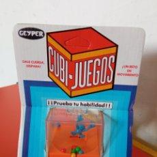 Juegos antiguos: CUBI JUEGOS BALONCESTO A CUERDA RESORTE.GEYPER 70S.SIN ABRIR.. Lote 257770010